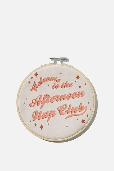 Hoop Wall Art, AFTERNOON NAP CLUB