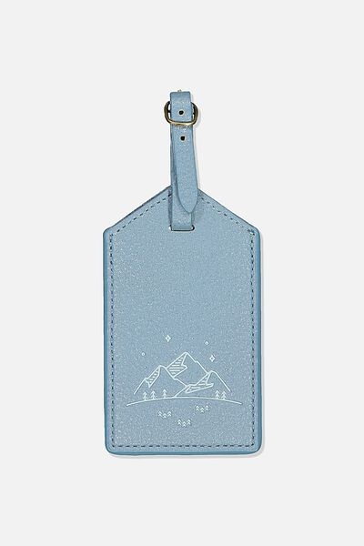 Luggage Tag, PETROL BLUE MOUNTAINS
