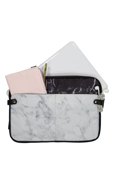 Varsity Laptop Case 13 Inch, MARBLE
