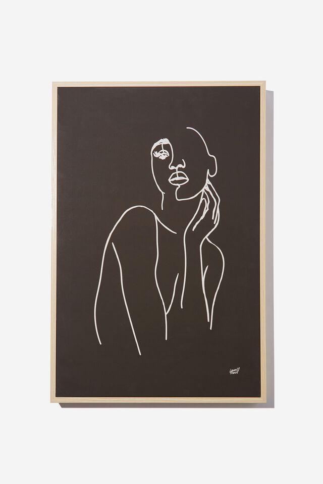 40 X 60 Canvas Art, BLACK LINE DRAWING
