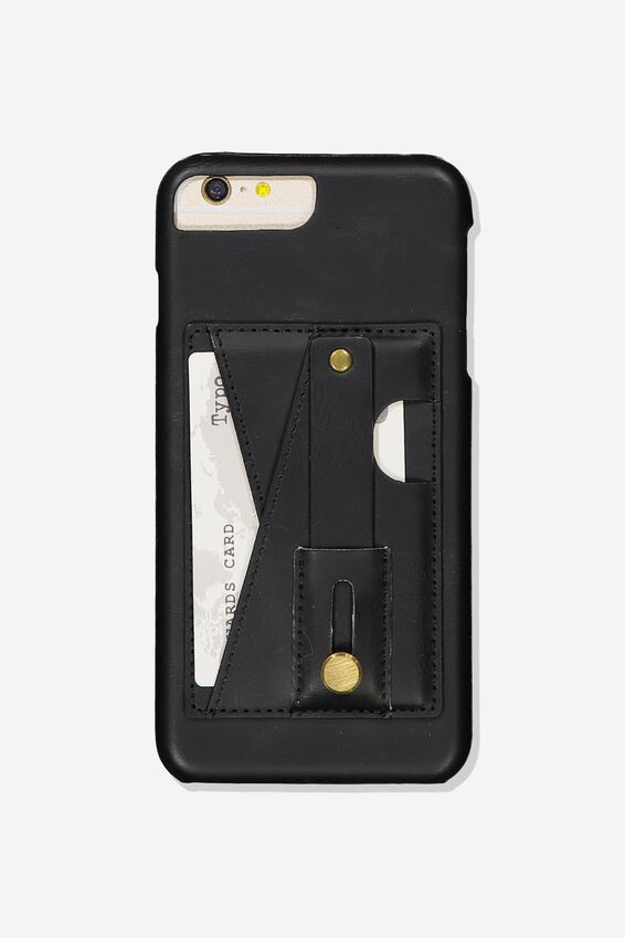 Cardholder Grip Case Iphone 6, 7, 8 Plus, BLACK