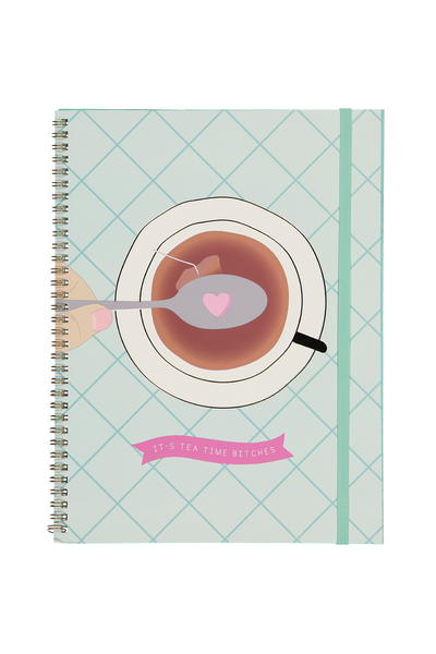 A4 Spinout Notebook - 120 Pages, TEA