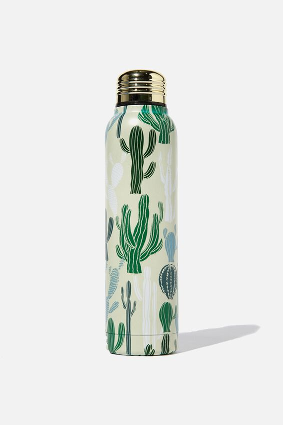 Small Metal Drink Bottle, CACTUS PRINT