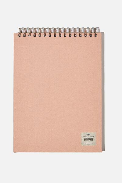 A4 Spiral Sketch Book, PEACH CANDY