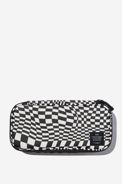 Switch It Up Protective Case, WARP CHECKERBOARD BLACK