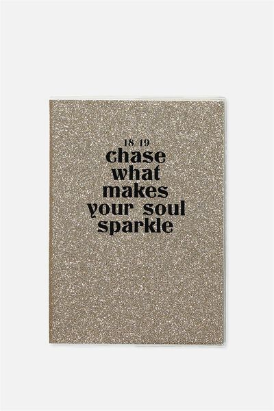 2018 19 A5 Pvc Diary, CHASE WHAT MAKES YOU SPARKLE