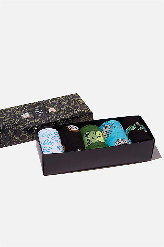 Rick & Morty Box of Socks, LCN CNW RICK & MORTY (M/L)