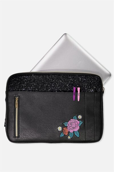 Take Charge 13 Inch Laptop Cover, FLORAL PATCH
