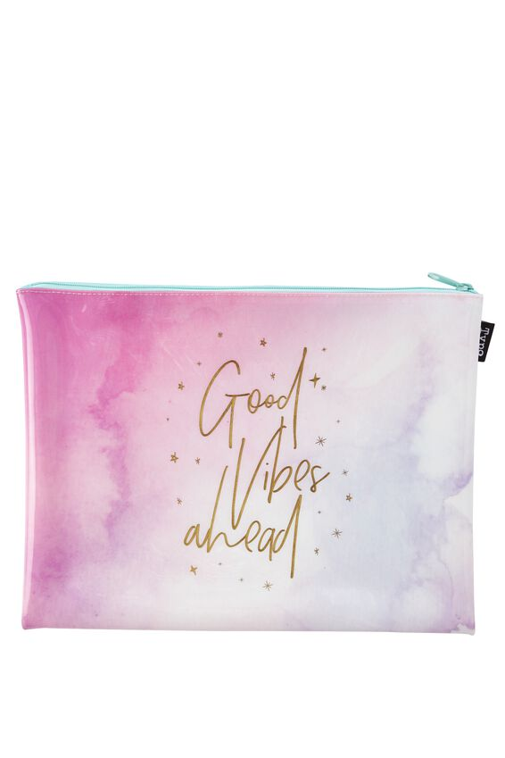 Printed Document Wallet, WATERCOLOUR