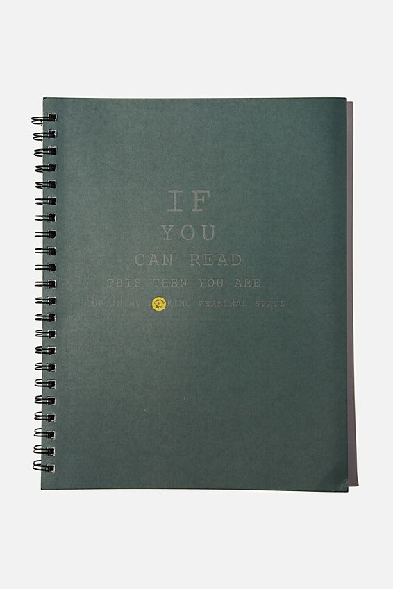 A4 Campus Notebook Recycled, IF YOU CAN READ THIS!!