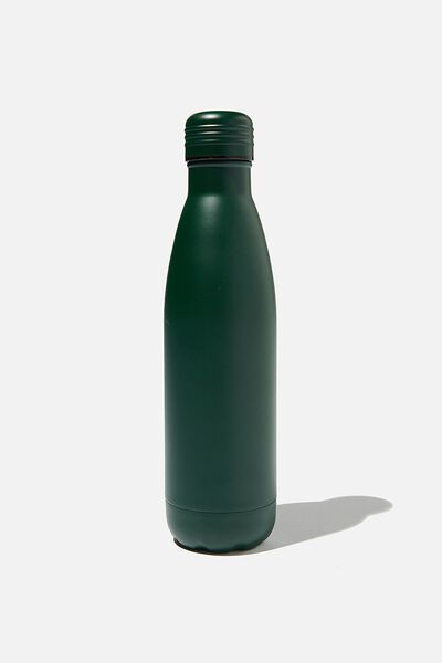 Metal Drink Bottle, DEEP GREEN