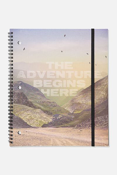 College Ruled Spinout Notebook V, THE ADVENTURE BEGINS