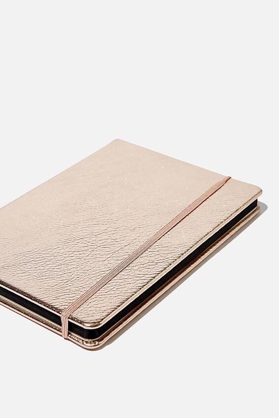 A5 Dot Buffalo Journal, ROSE GOLD