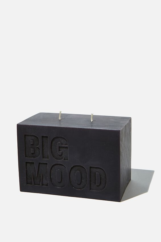 Large Block Candle, BIG MOOD BLACK