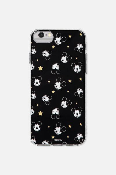 Transparent Phone Cover Universal 6,7,8, LCN BLACK MICKEY YARDAGE