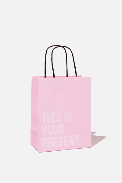 Get Stuffed Gift Bag - Small, PLASTIC PINK THIS IS YOUR PRESENT
