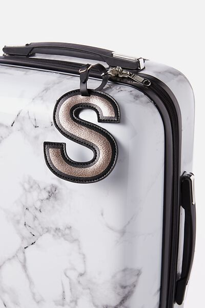 Shaped Alphabet Luggage Tag, S