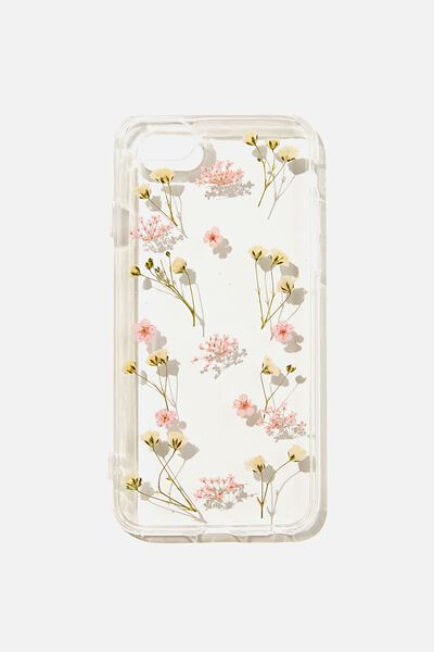 Protective Phone Case 6, 7, 8, SE, PINK TRAPPED MICRO FLOWERS