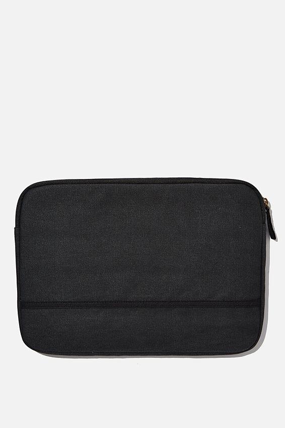 Canvas 13 Inch Laptop Case, WASHED BLACK