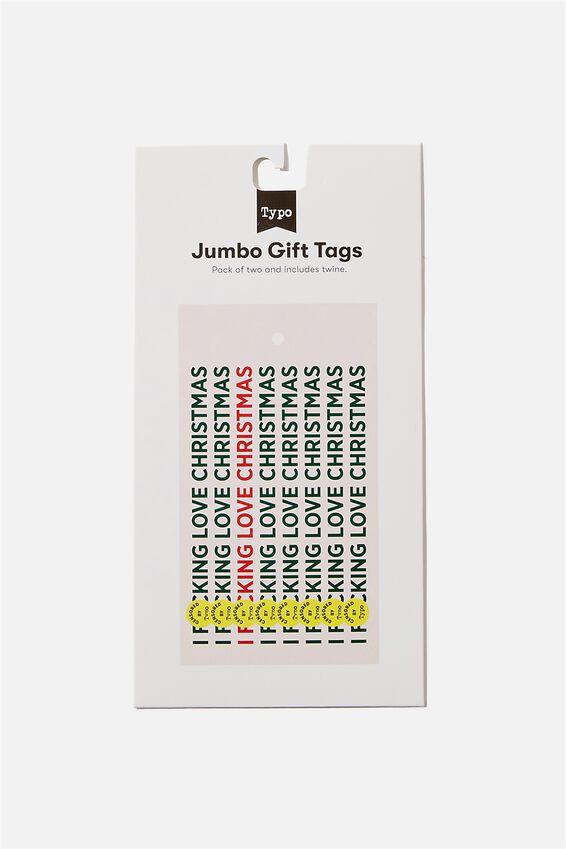 Jumbo Gift Tag Pack, I F*CKING LOVE CHRISTMAS!!