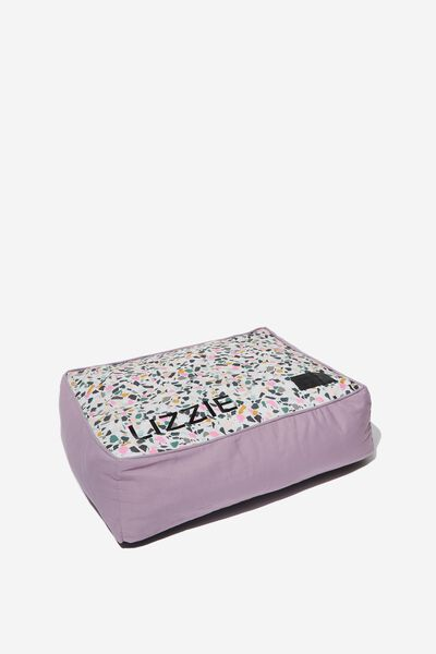 Personalised Small Printed Pet Bed, TERRAZZO