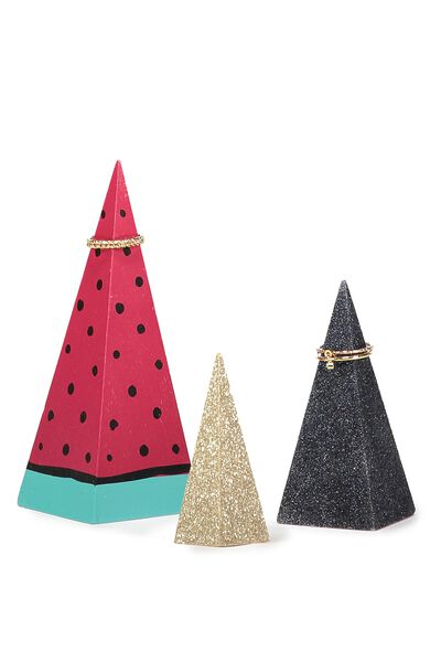 Set Of 3 Cones, WATERMELON