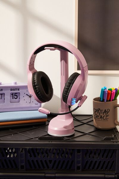 Led Headphone Stand, DUSTY LILAC