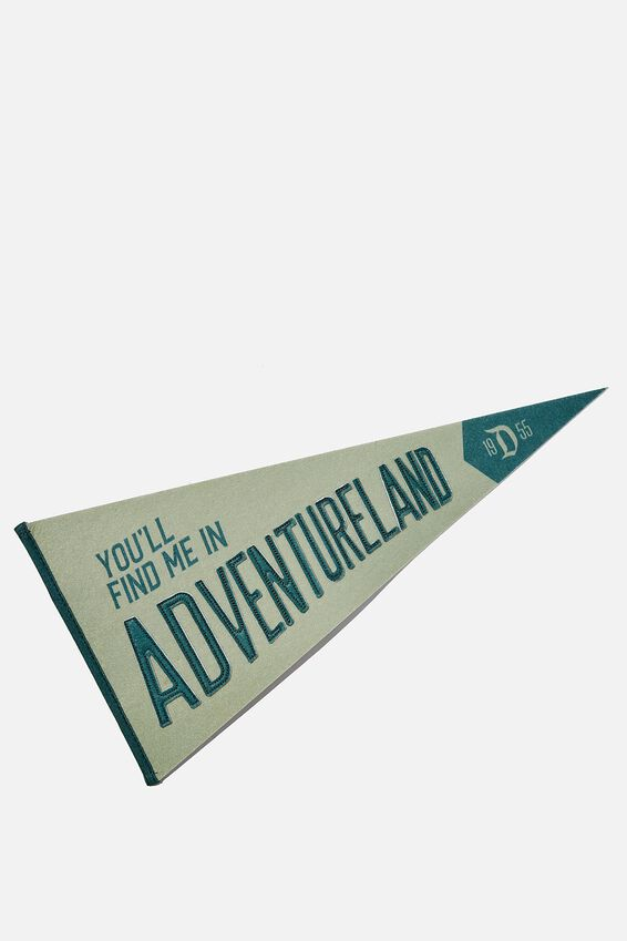Disney Pennant Wall Flag, LICENSE DISNEYLAND ADVENTURELAND