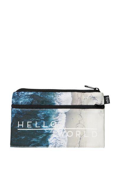 Archer Pencil Case, HELLO WORLD