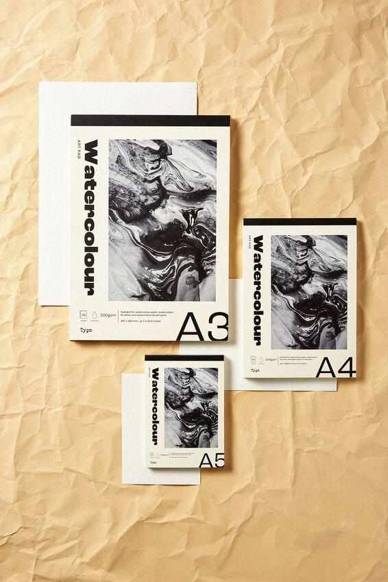 The A4 Art Pad, WATERCOLOUR