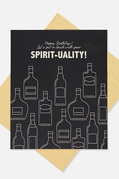 Funny Birthday Card, SPIRIT TUALITY!