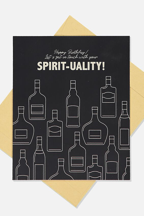 Funny Birthday Card, SPIRIT TUALITY