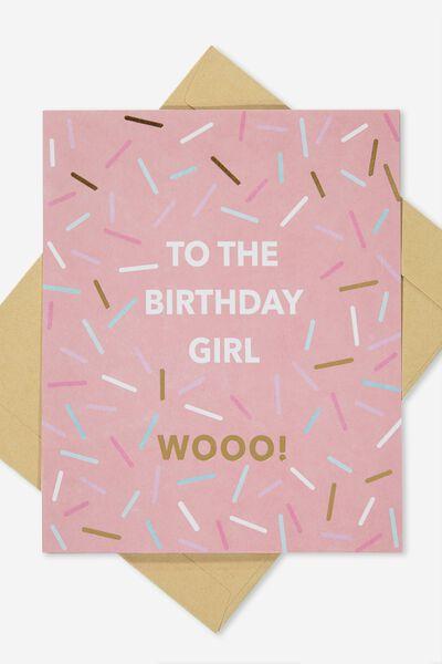 Nice Birthday Card, BIRTHDAY GIRL