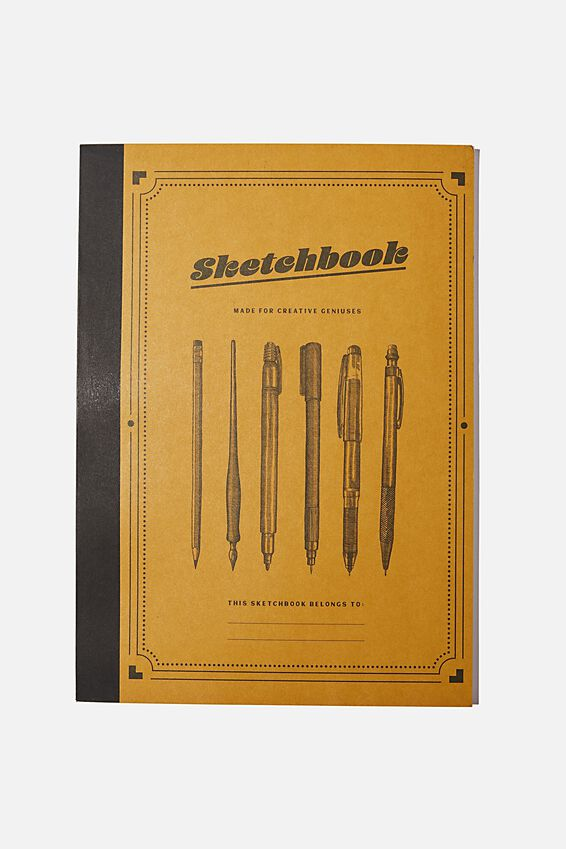 A4 Sketch Mate Book, YELLOW SKETCHBOOK