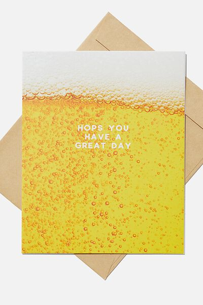 Premium Blank Card, SCENTED BEER HOPS!
