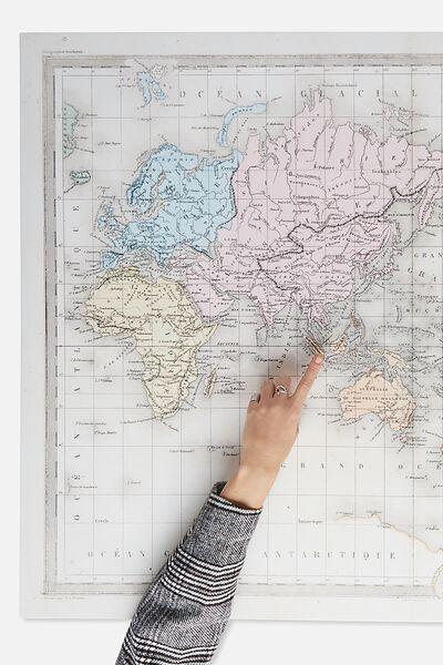 Canvas Print 85X113, WORLD MAP