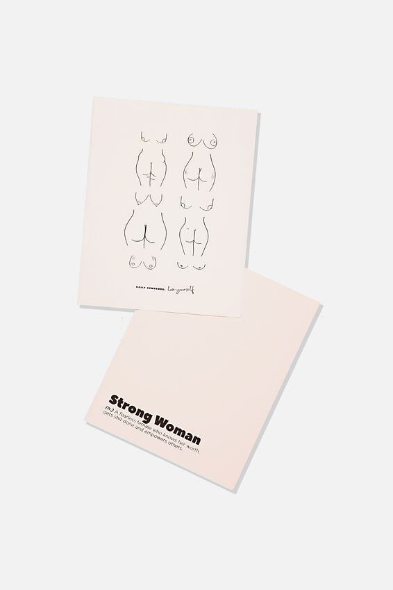 A5 Duo Print Packs, STRONG WOMEN