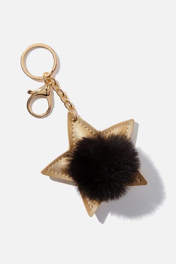 Bag Charm, STAR POM POM