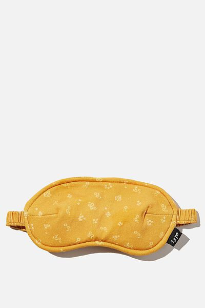 Time Out Eye Mask, DOTTIE FLORAL MUSTARD
