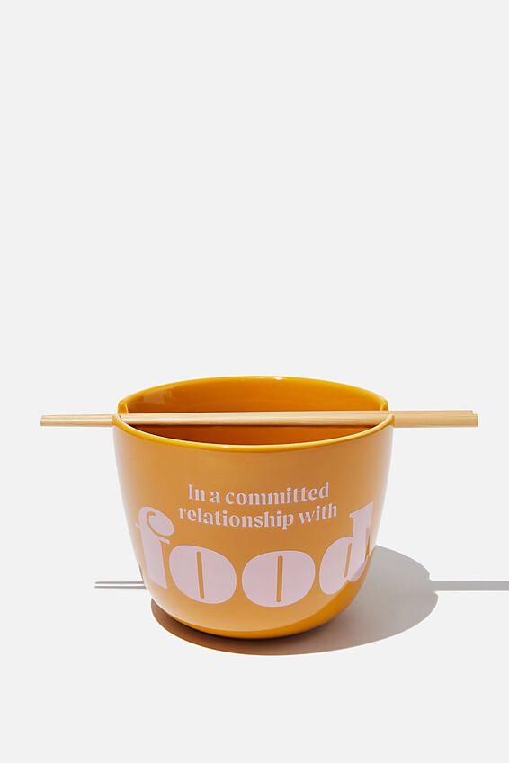 Noodle Bowl, FOOD RELATIONSHIP