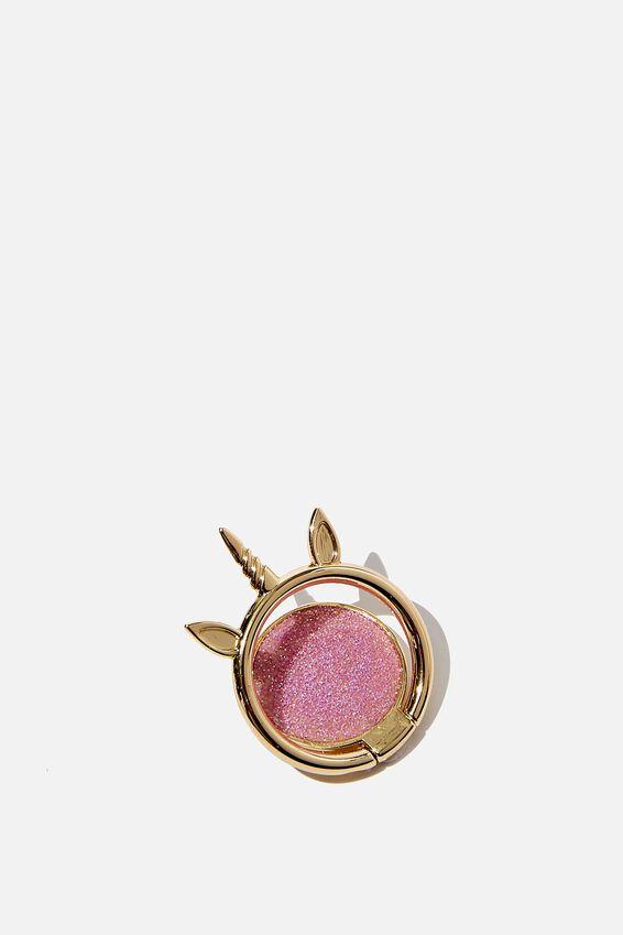 Metal Phone Ring, SPARKLY UNICORN