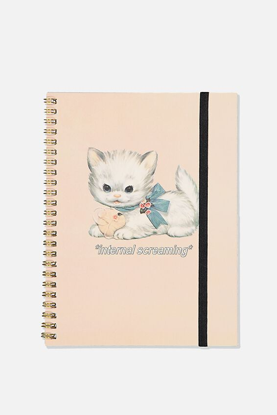 A5 Spinout Notebook Recycled, INTERNAL SCREAMING