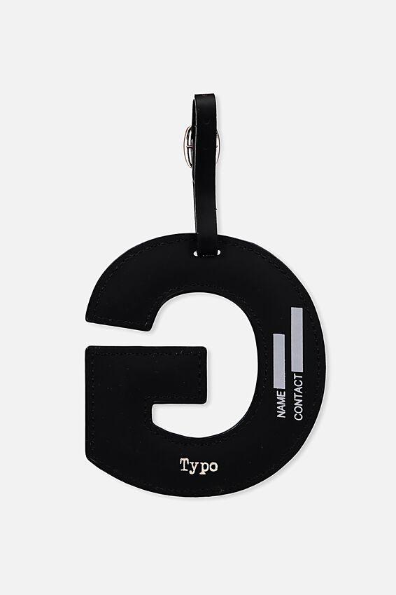 Shaped Alphabet Luggage Tag, G
