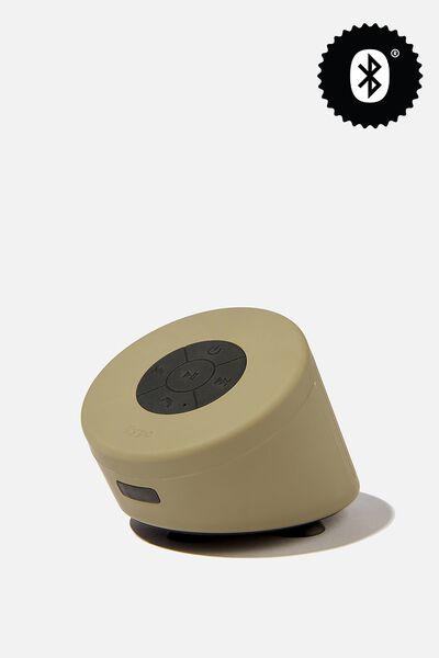 Wireless Shower Speaker, PREMIUM A.T. KHAKI