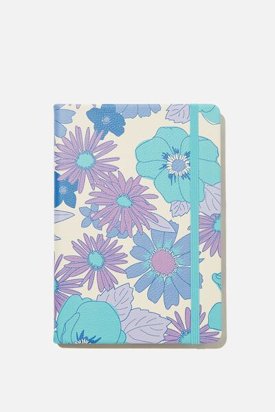 A5 Buffalo Journal, PR BLUE STEVIE FLORAL LARGE