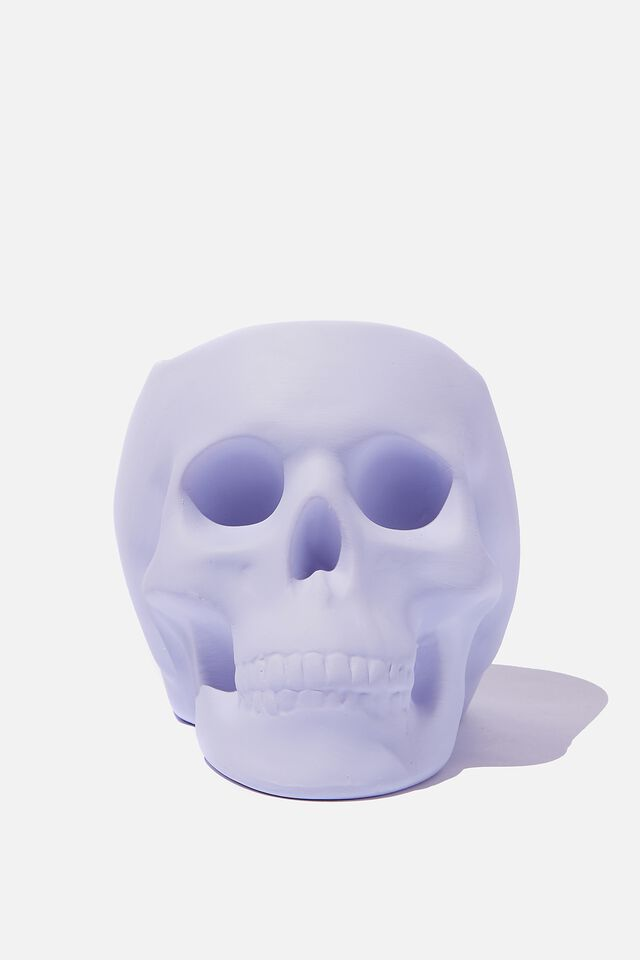 Shaped Planter, PALE LILAC SKULL!
