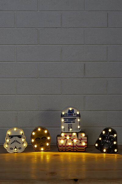 Shaped Mini Marquee Box Set Lights, LCN RETRO STAR WARS MULTI