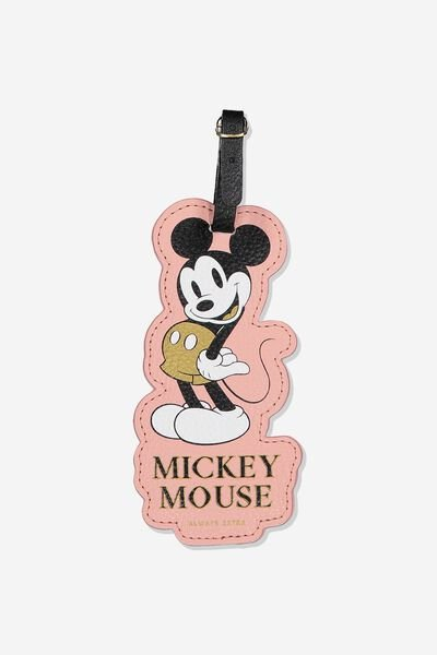 Shape Shifter Luggage Tag, LCN DIS BLUSH MINNIE