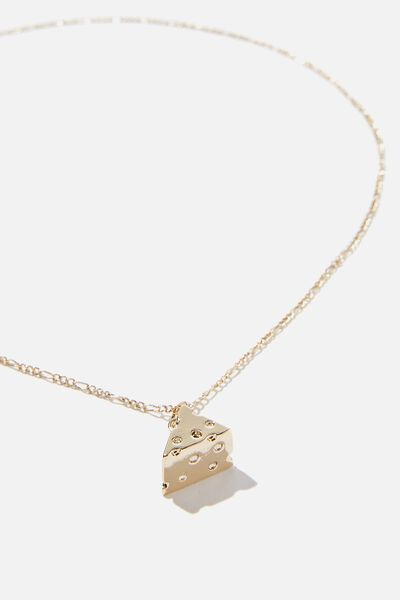 Novelty Necklace, CHEESE WEDGE