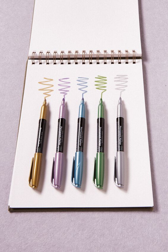 Make Your Mark Permanent Marker 5Pk, METALLICS
